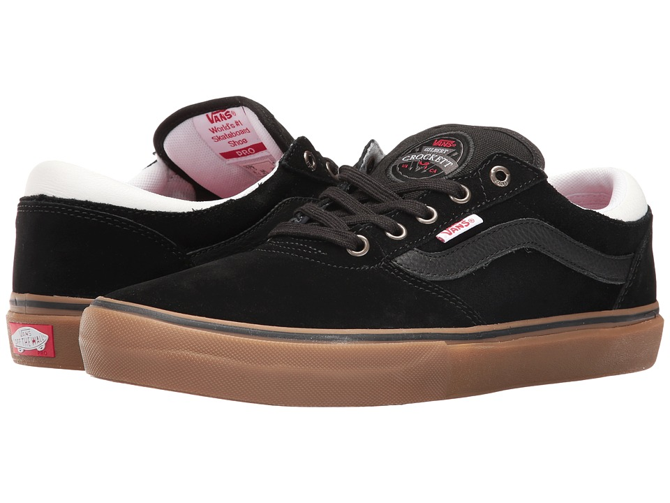 Vans - Gilbert Crockett Pro (Black/White/Gum) Men's Skate Shoes