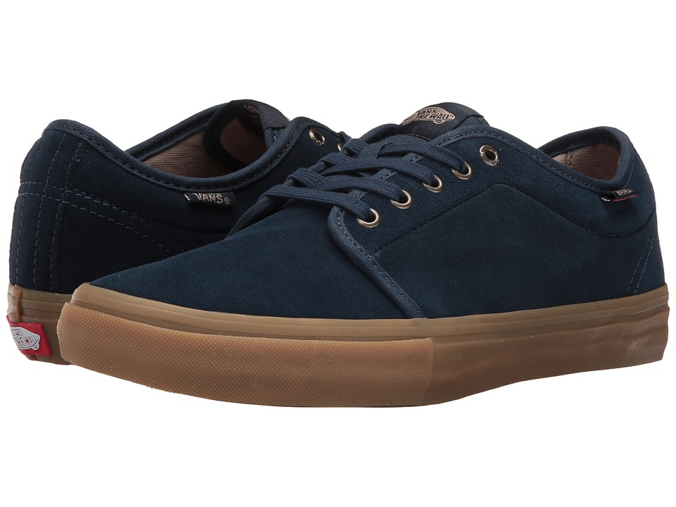 Vans - Chukka Low Pro (Dress Blues/Gum) Men's Skate Shoes