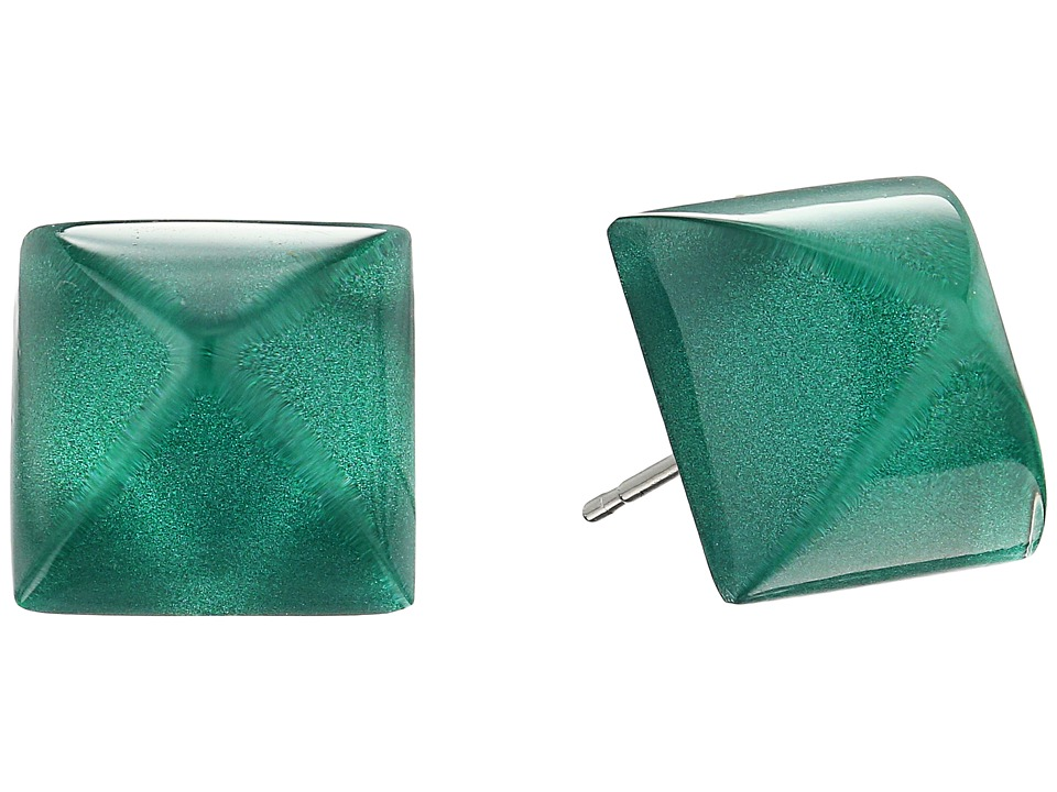 Alexis Bittar - Pyramid Post Earrings (Jungle Green) Earring