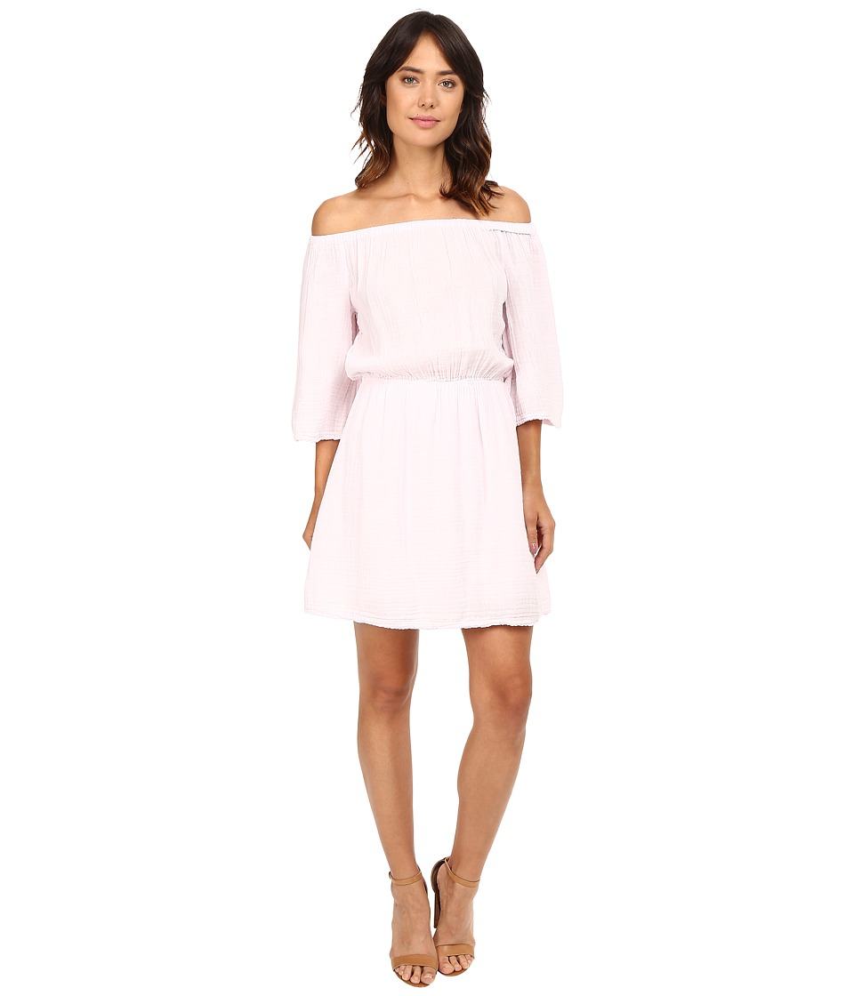 Michael Stars Double Gauze Off Shoulder Dress (Rosewater) Women