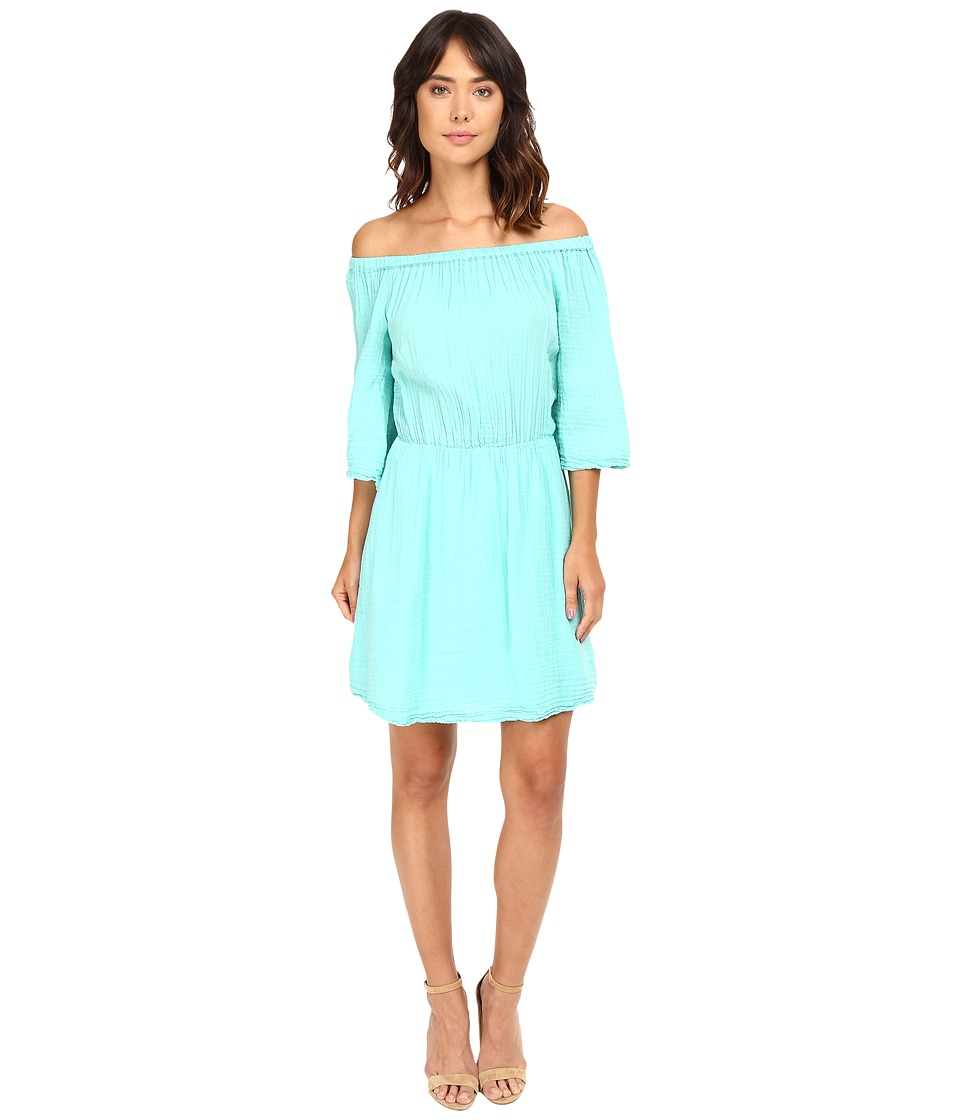Michael Stars Double Gauze Off Shoulder Dress (Aruba) Women