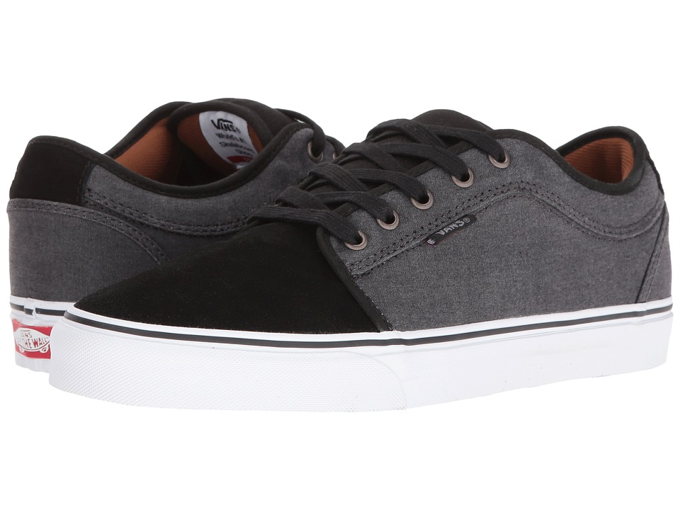 Vans - Chukka Low ((Two-Tone Oxford) Black/Tornado) Men's Skate Shoes