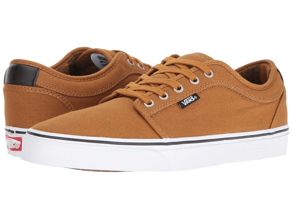 Vans - Chukka Low ((Flannel) Golden Brown/Black) Men's Skate Shoes