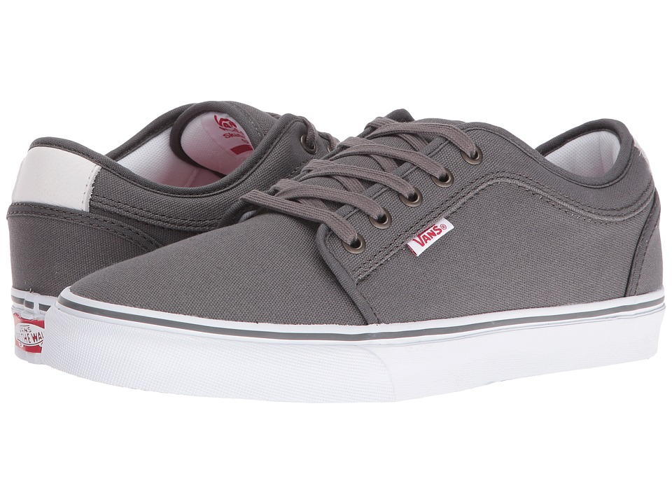 Vans - Chukka Low (Pewter/White/Red) Men's Skate Shoes