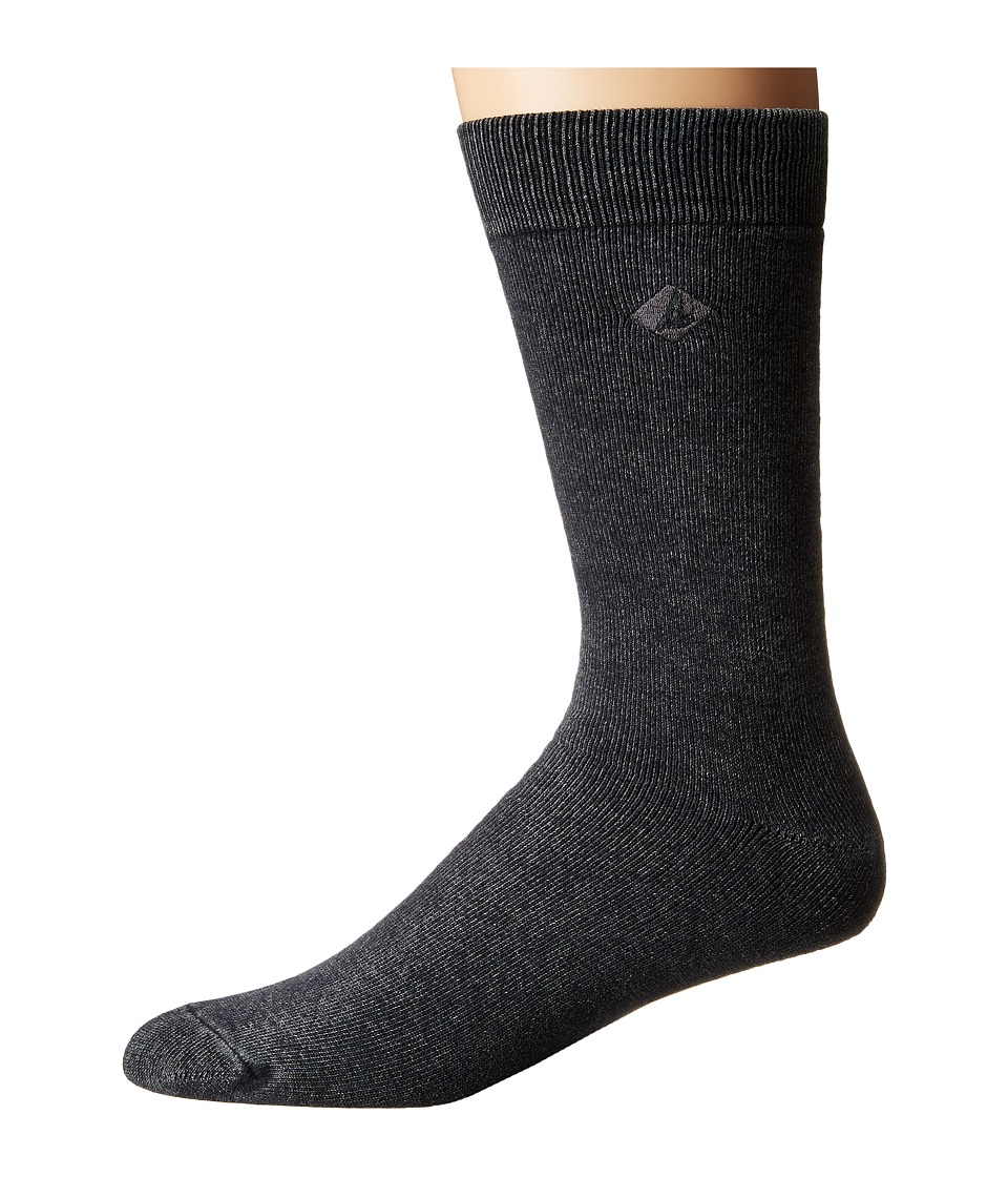 Sperry - Solid Salt Wash Full Cushion Crew (Black) Men's Crew Cut Socks Shoes