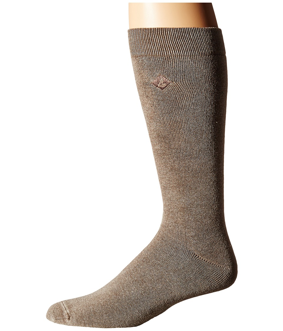 Sperry - Solid Salt Wash Full Cushion Crew (Brown) Men's Crew Cut Socks Shoes