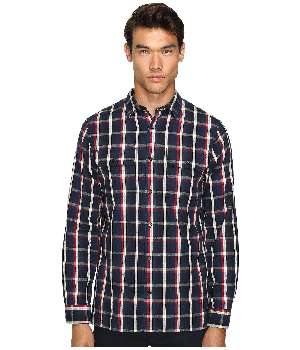 Vince - Military Shirt (Blue/Red) Men's Clothing