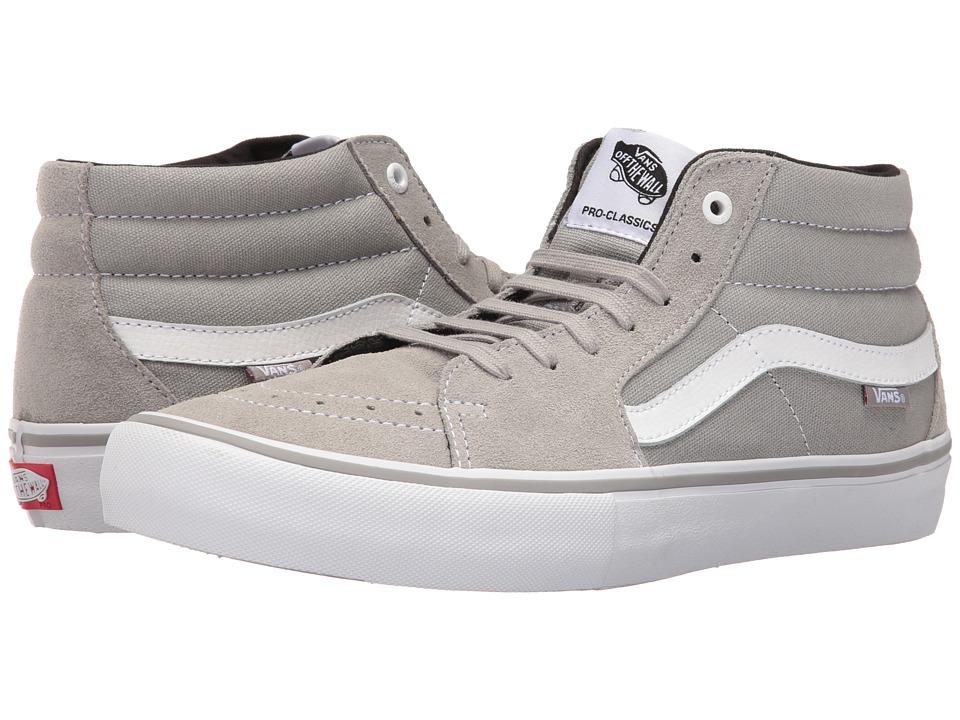Vans - Sk8-Mid Pro (Drizzle/White) Men's Skate Shoes