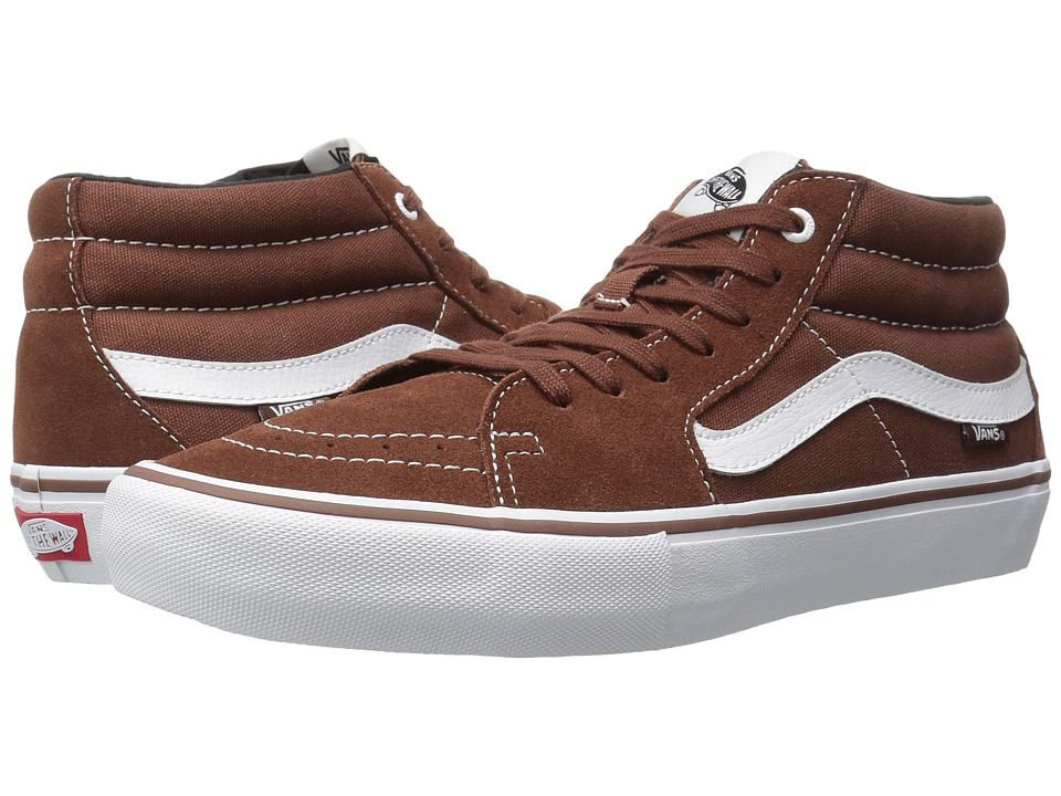 Vans - Sk8-Mid Pro (Cappuccino/White) Men's Skate Shoes