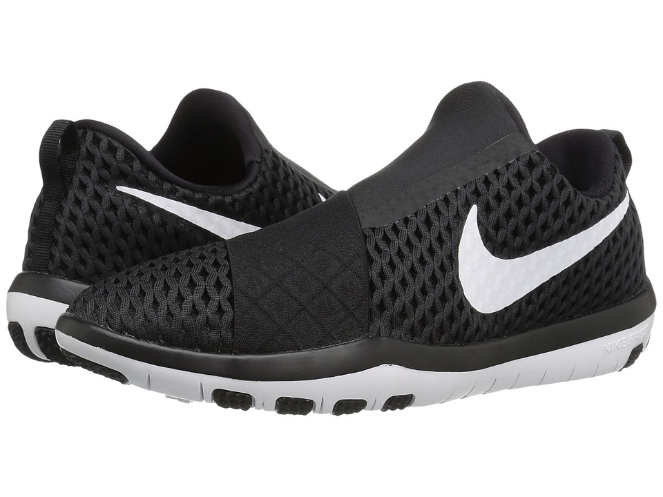Nike - Free Connect (Black/White) Women's Slip on Shoes
