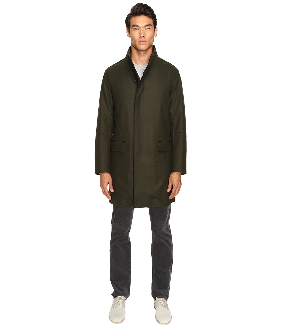 Vince - Raw Edge Military Coat (Military Green) Men's Coat