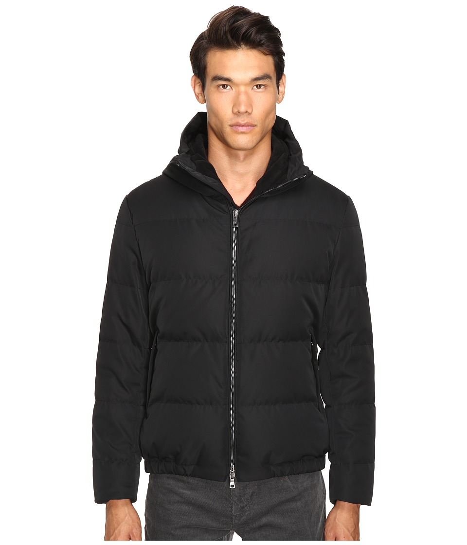 Vince - Quilted Down Fill Parka (Black) Men's Coat