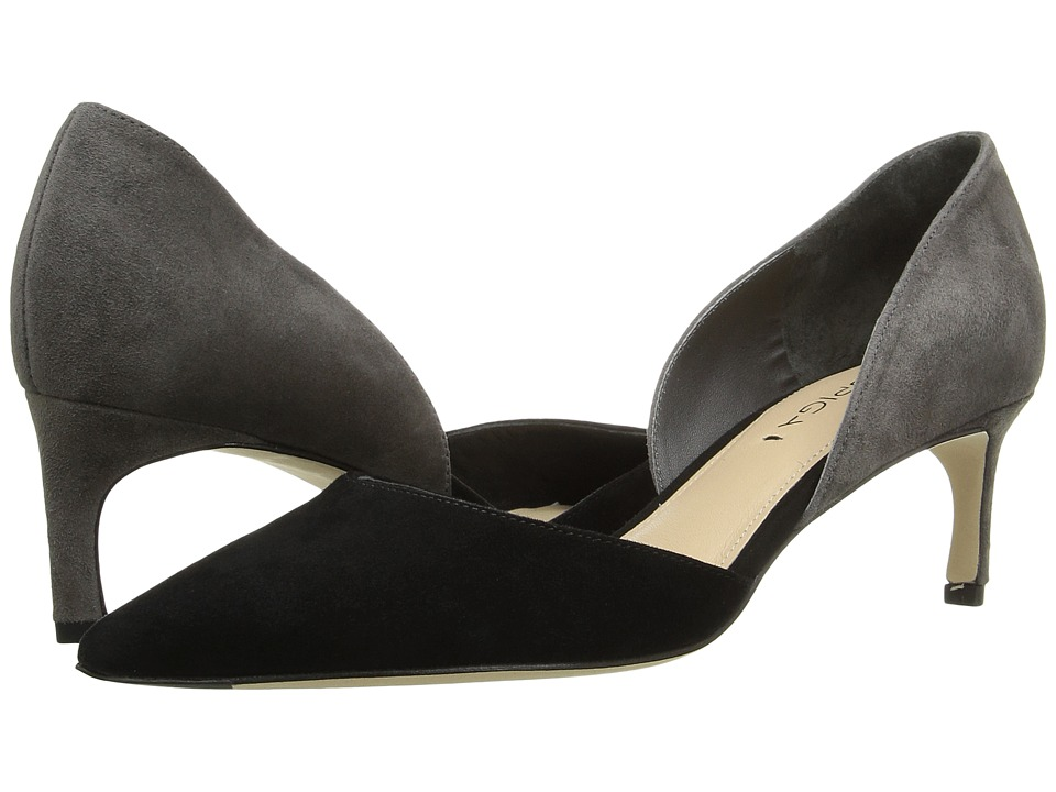 Via Spiga - Ava (Black/Ash Kid Suede Leather) Women's Wedge Shoes