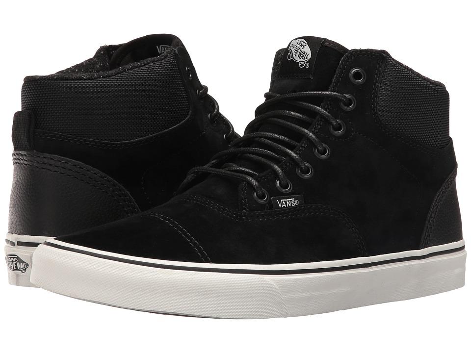 Vans - Era-Hi ((Pig Suede/Nylon) Black/Blanc De Blanc) Skate Shoes