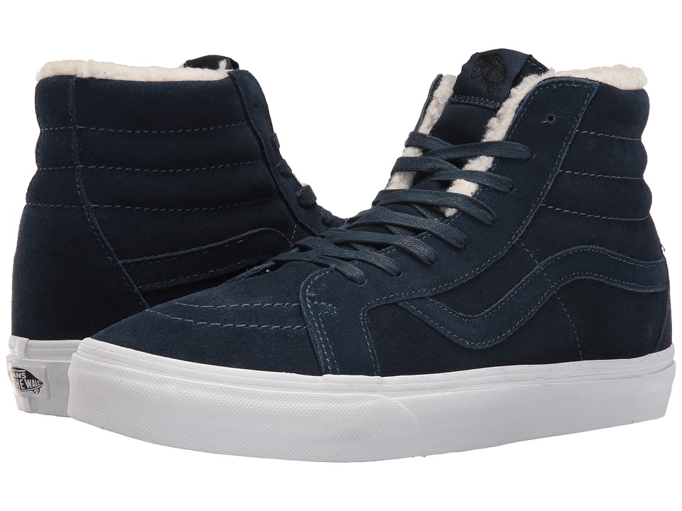 Vans - SK8-Hi Reissue ((Suede/Fleece) Dress Blues/True White) Skate Shoes