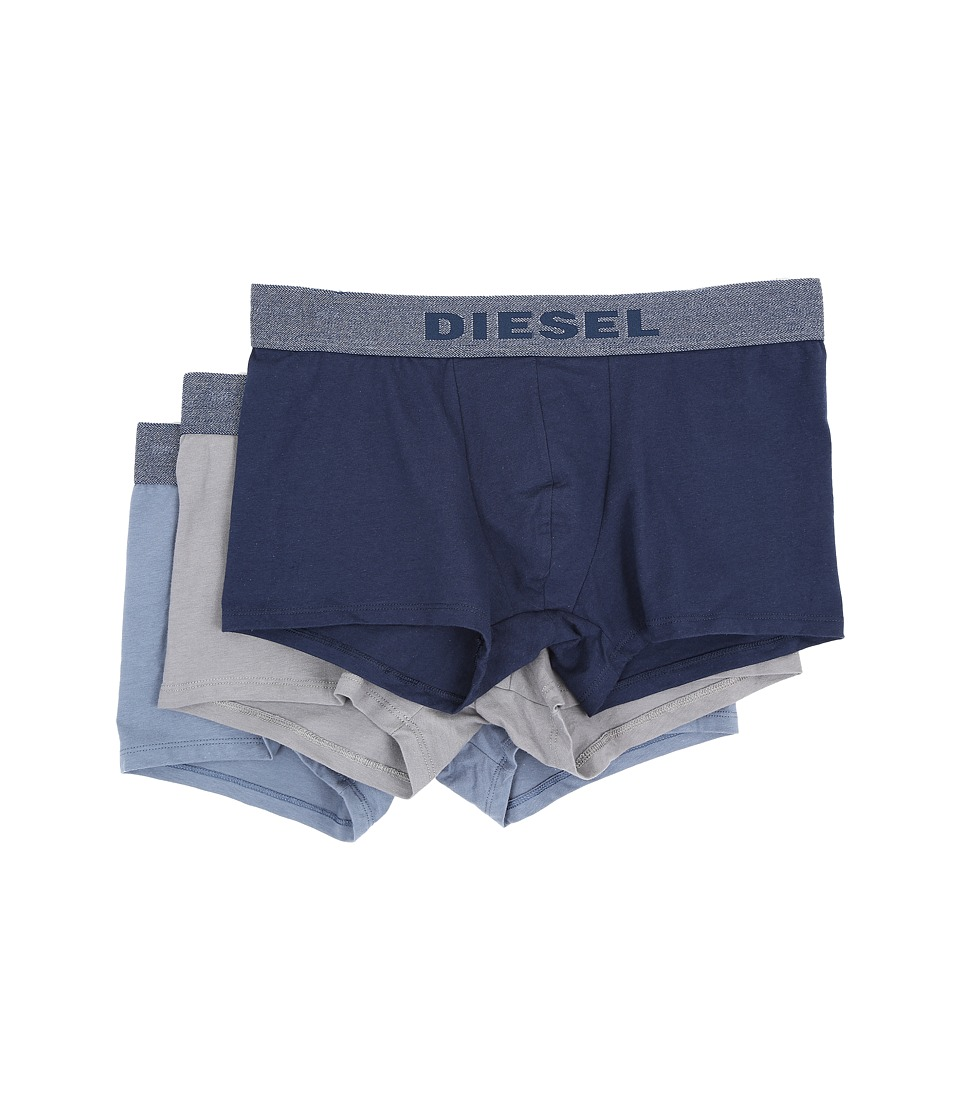 Diesel - Shawn 3-Pack Boxer Shorts AAMU (Black/Grey/Blue) Men's Underwear