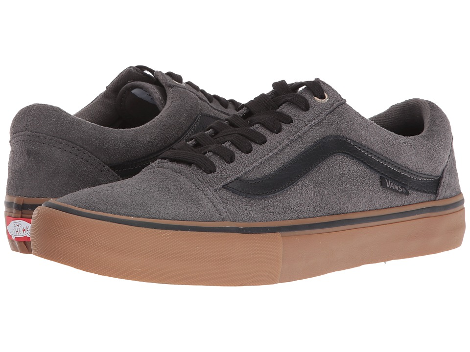 Vans - Old Skool Pro (Grey/Black/Gum) Men's Skate Shoes