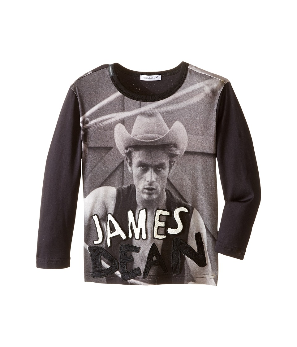 Dolce & Gabbana Kids - City James Dean T-Shirt (Toddler/Little Kids) (Navy/Black Print) Boy's T Shirt