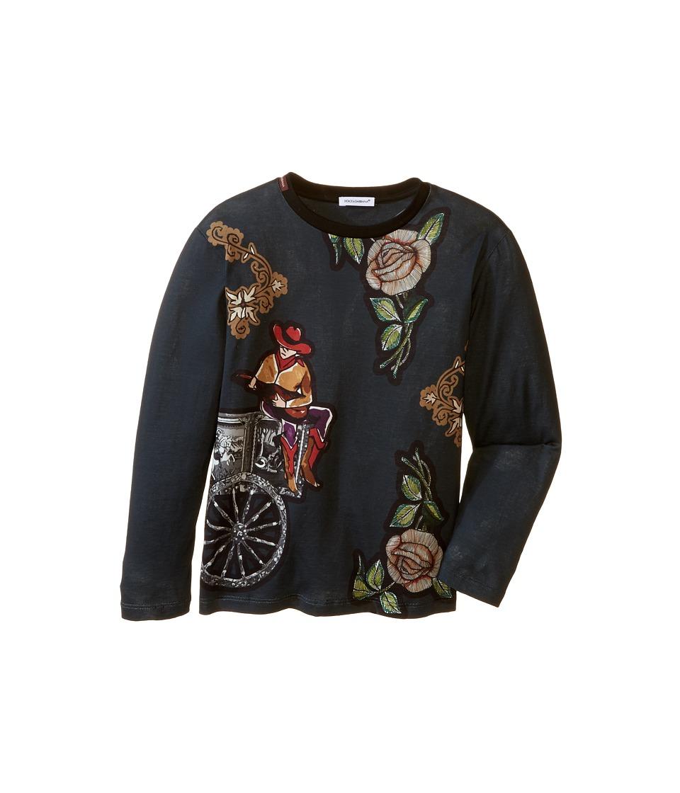 Dolce & Gabbana Kids - City Carretto Rose T-Shirt (Toddler/Little Kids) (Dark Blue Print) Boy's T Shirt
