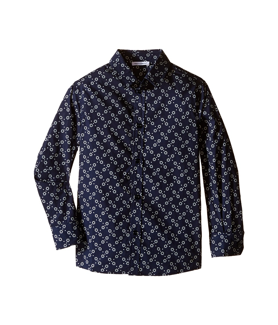 Dolce & Gabbana Kids - City Fiorellini Print Shirt (Toddler/Little Kids) (Navy Print) Boy's Clothing