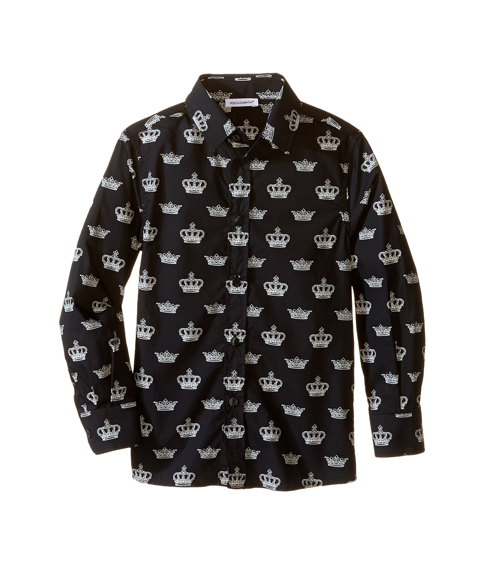 Dolce & Gabbana Kids - City Crown Print Shirt (Toddler/Little Kids) (Black Print) Boy's Clothing