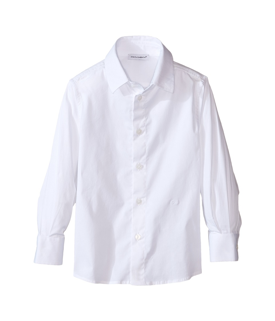 Dolce & Gabbana Kids - Back to School Poplin Stretch Shirt (Toddler/Little Kids) (White) Boy's Clothing