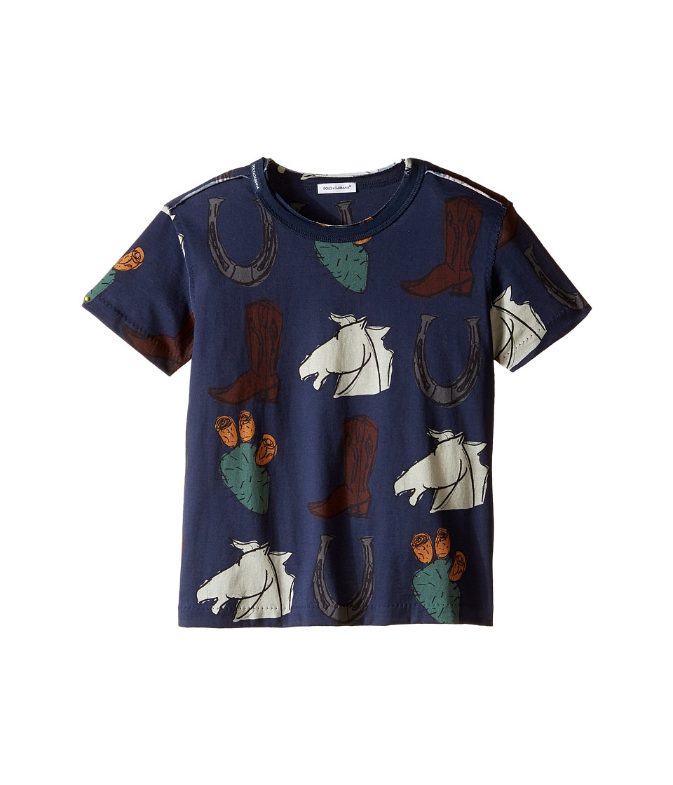 Dolce & Gabbana Kids - City Western T-Shirt (Toddler/Little Kids) (Navy Print) Boy's T Shirt
