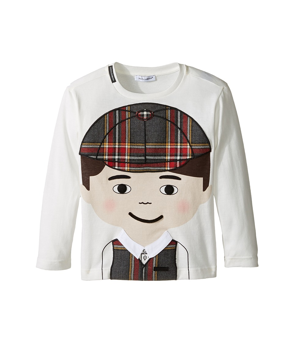 Dolce & Gabbana Kids - Back to School Bimbo Moro T-Shirt (Toddler/Little Kids) (White Print) Boy's T Shirt