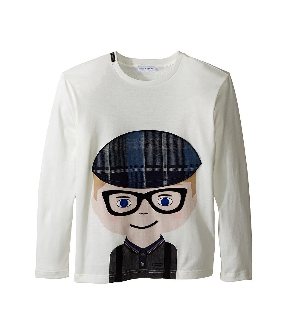 Dolce & Gabbana Kids - Back to School Bimbo Biondo T-Shirt (Big Kids) (White Print) Boy's T Shirt