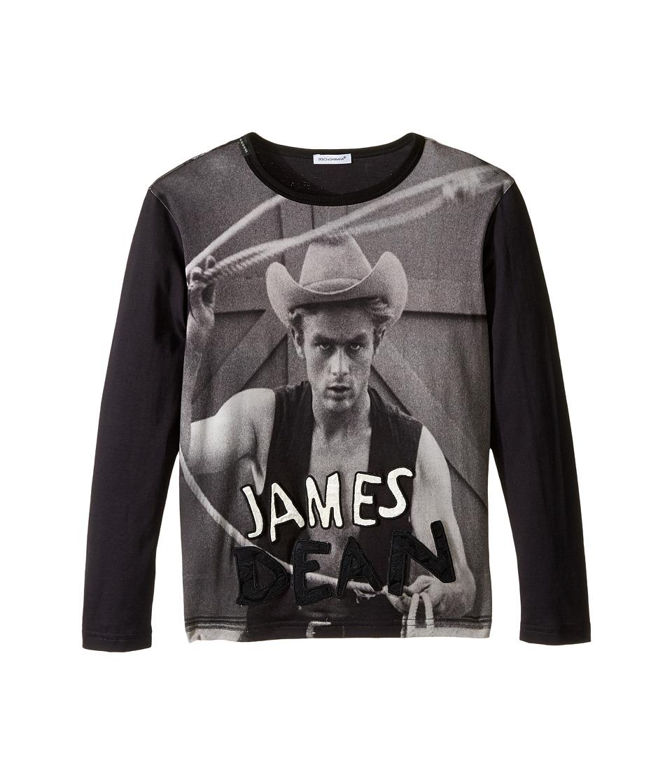 Dolce & Gabbana Kids - City James Dean T-Shirt (Big Kids) (Navy/Black Print) Boy's T Shirt