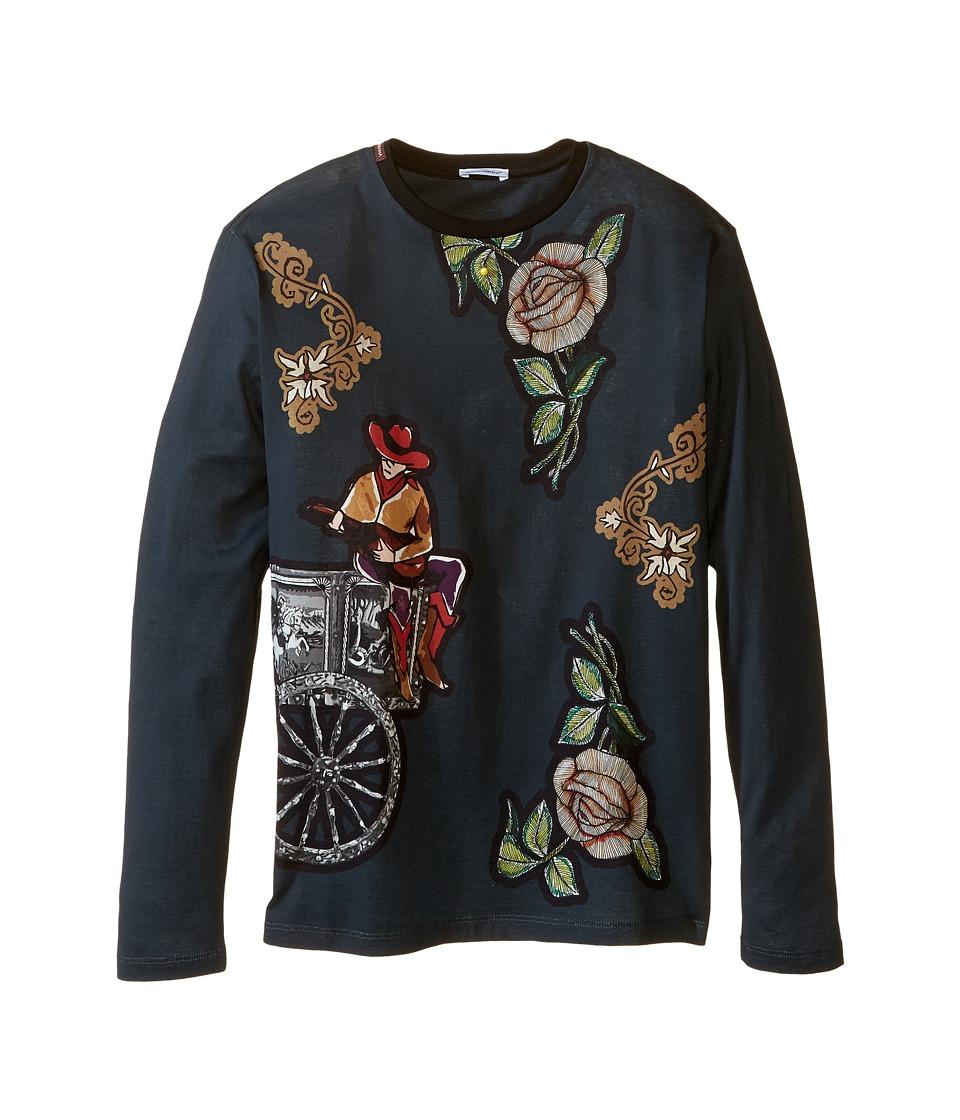 Dolce & Gabbana Kids - City Carretto Rose T-Shirt (Big Kids) (Dark Blue Print) Boy's T Shirt