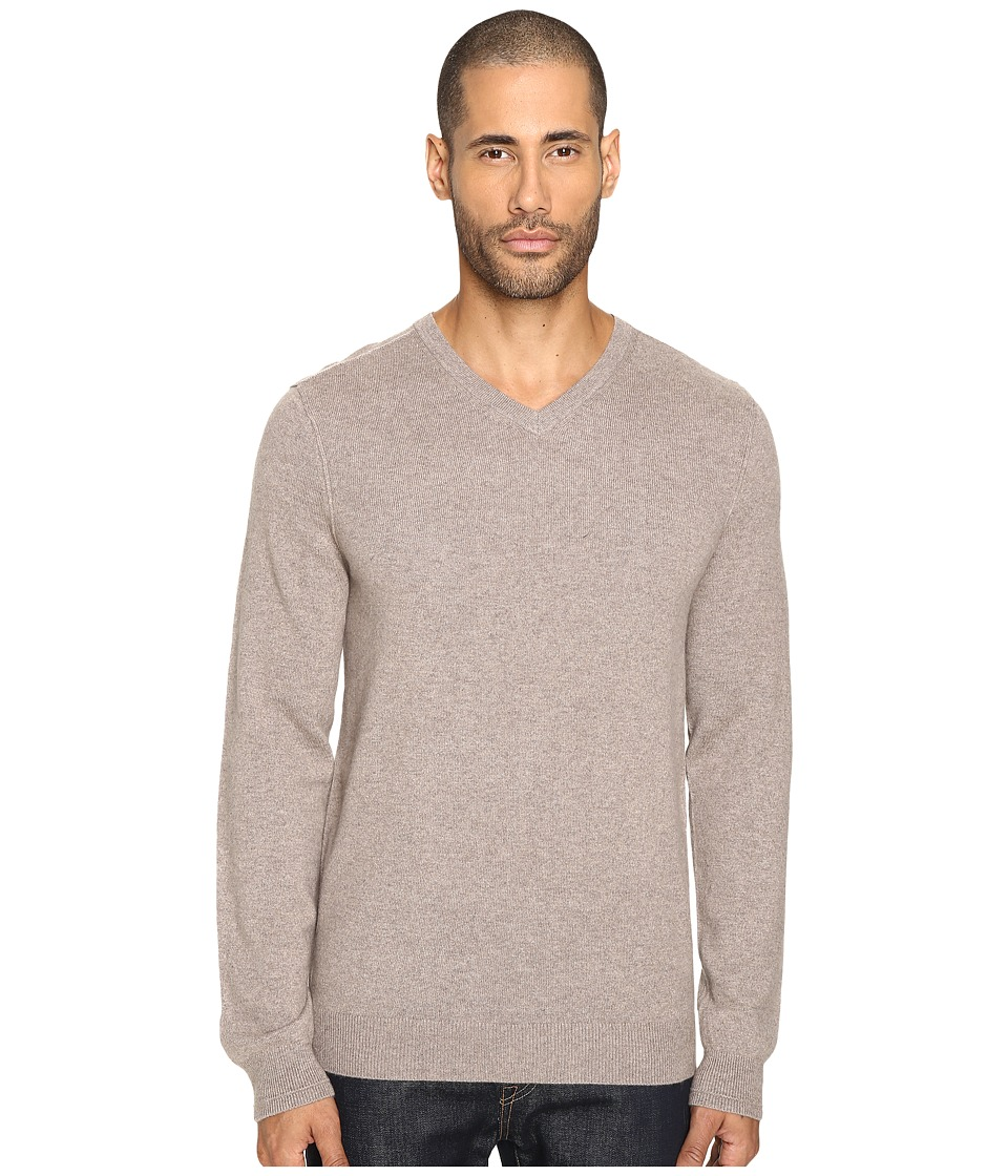 Vince - Cashmere Long Sleeve Crew Neck Sweater (Heather Maple) Men's Sweater