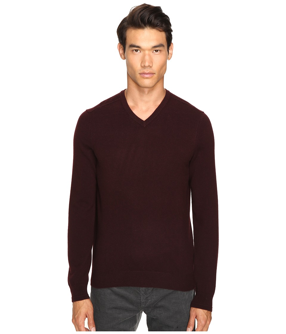 Vince - Cashmere Long Sleeve Crew Neck Sweater (Black Tulip) Men's Sweater