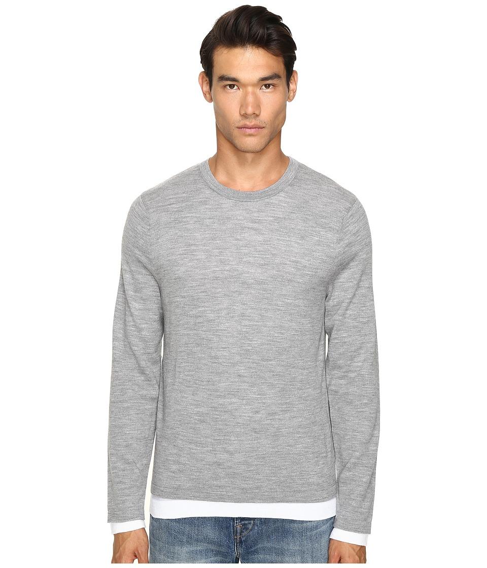 Vince - Crew Neck Sweater (Heather Steel) Men's Sweater