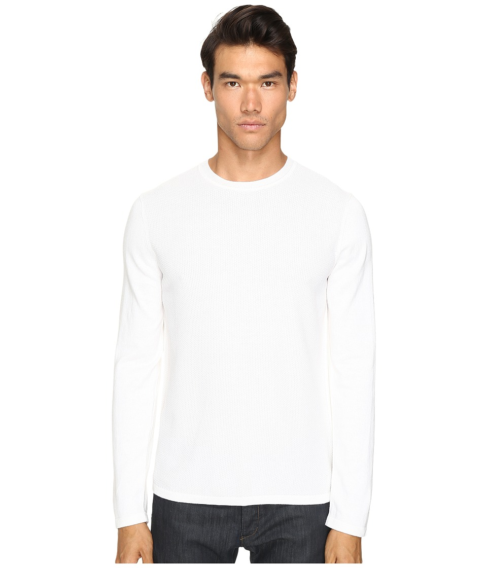 Vince - Jersey Mix-Stitch Long Sleeve Crew (Pearl) Men's Sweater