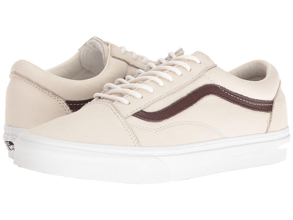 Vans Old Skooltm ((Leather) Blanc De Blanc/Potting Soil) Skate Shoes