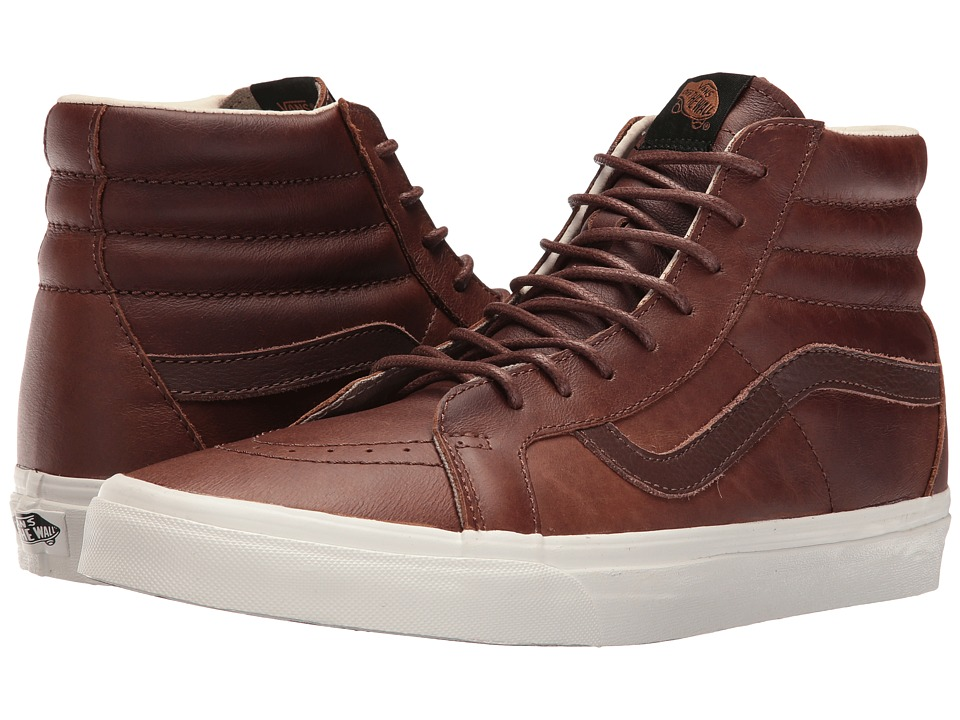 Vans - SK8-Hi Reissue ((Leather) Dachshund/Potting Soil) Skate Shoes