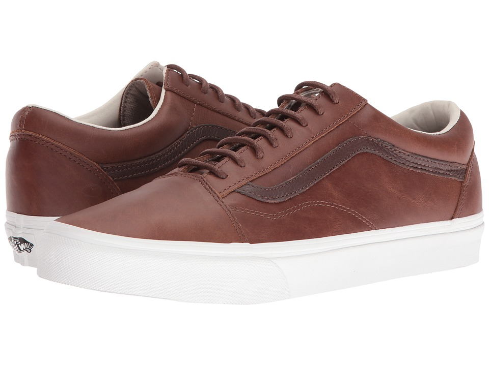 Vans - Old Skool ((Leather) Dachshund/Potting Soil) Skate Shoes