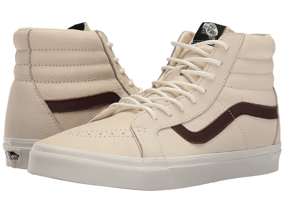 Vans - SK8-Hi Reissue ((Leather) Blanc De Blanc/Potting Soil) Skate Shoes