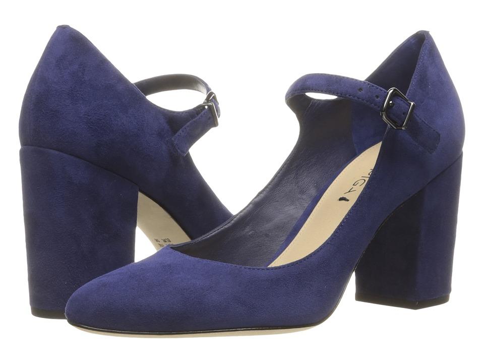 Via Spiga - Deanna (Deep Blue Kid Suede Leather) High Heels