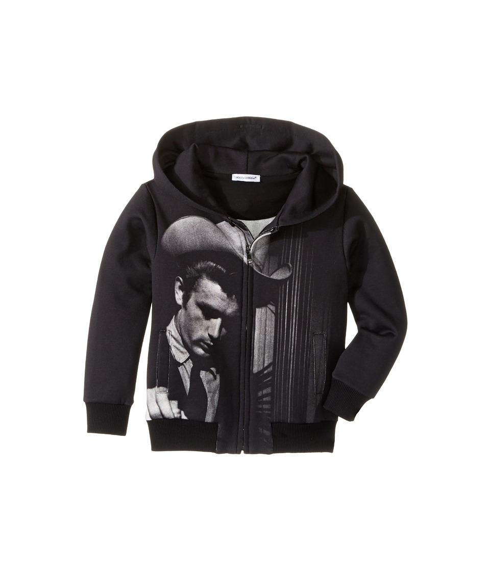 Dolce & Gabbana Kids - City James Dean Hoodie (Toddler/Little Kids) (Charcoal Print) Boy's Sweatshirt