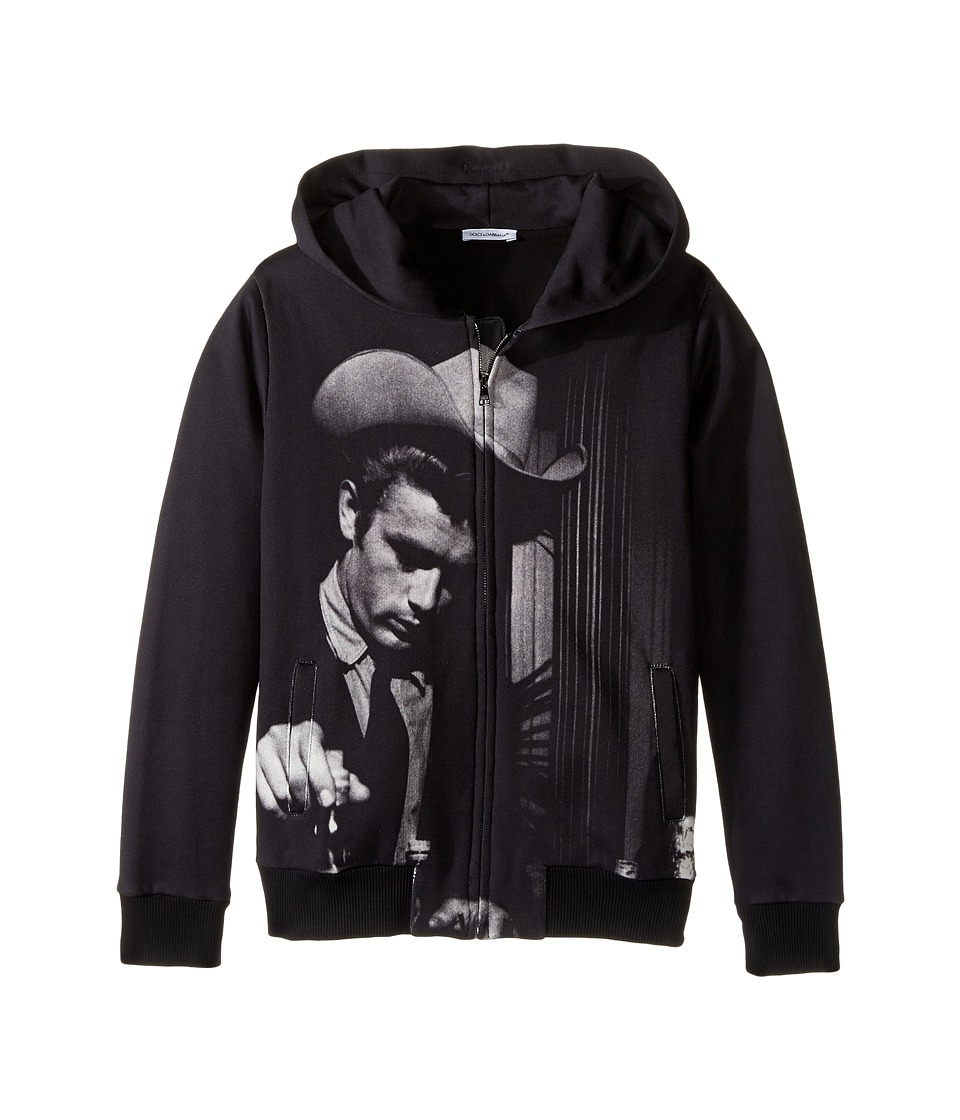Dolce & Gabbana Kids - City James Dean Hoodie (Big Kids) (Charcoal Print) Boy's Sweatshirt