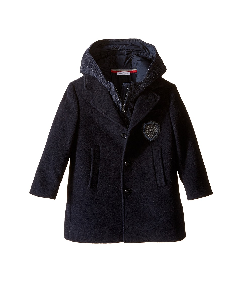 Dolce & Gabbana Kids - Back to School Coat (Toddler/Little kids) (Navy Blue) Boy's Coat