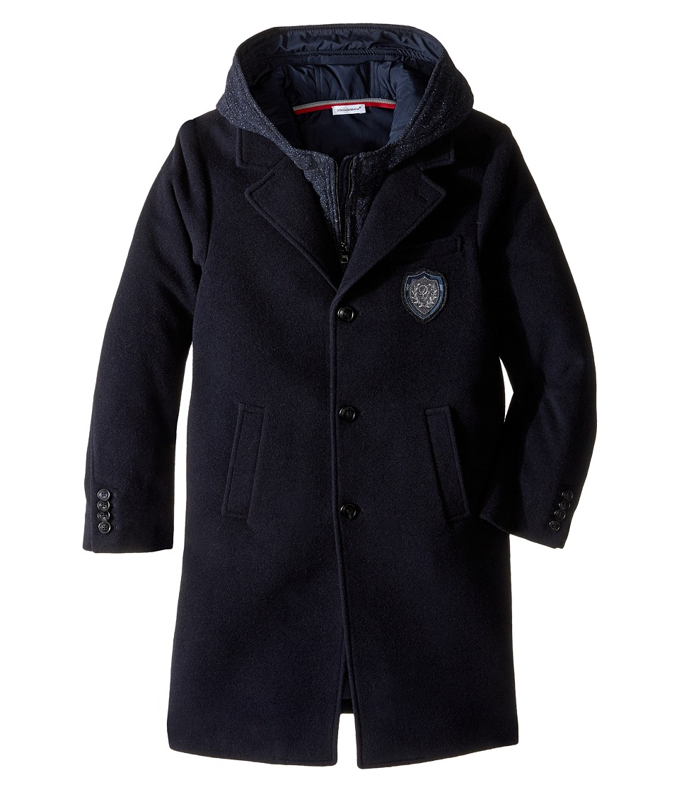 Dolce & Gabbana Kids - Back to School Coat (Big kids) (Navy Blue) Boy's Coat
