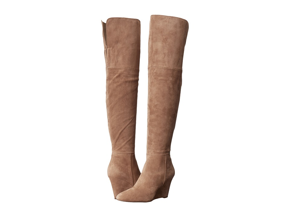 Via Spiga - Kennedy (Dark Taupe Coco Sport Suede) Women's Pull-on Boots