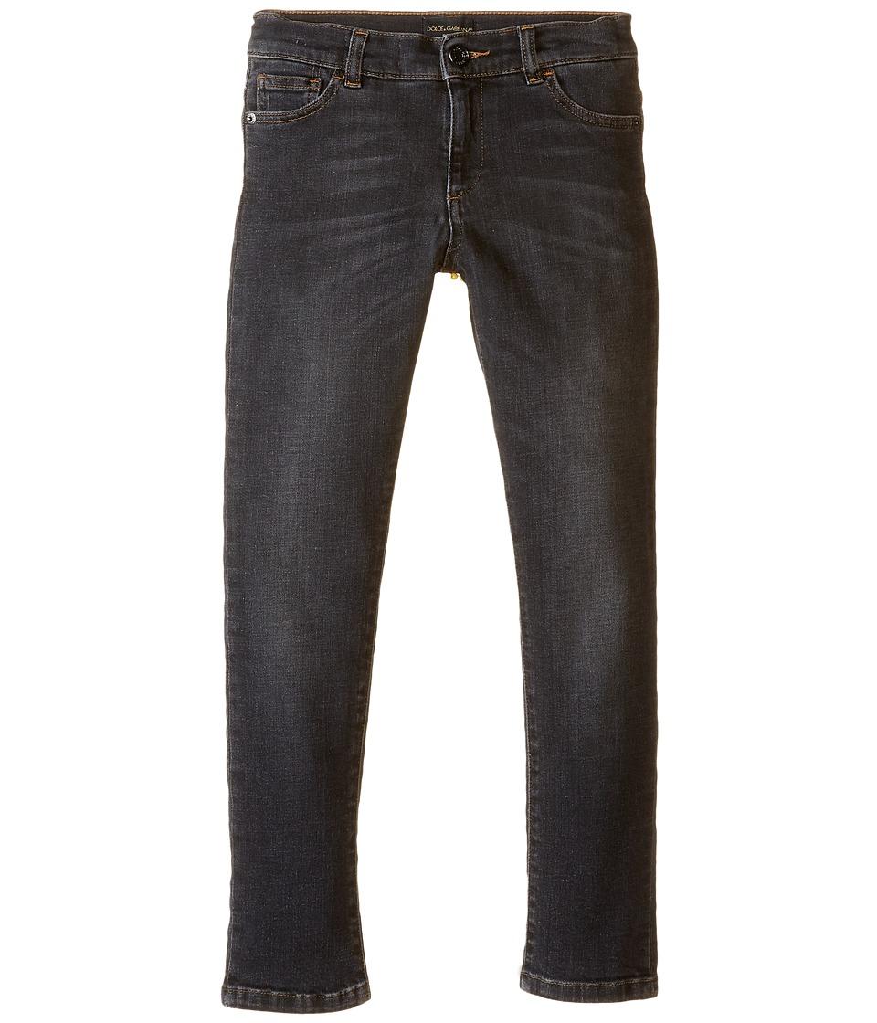 Dolce & Gabbana Kids - Back to School Jeans (Big Kids) (Grey Denim) Boy's Jeans