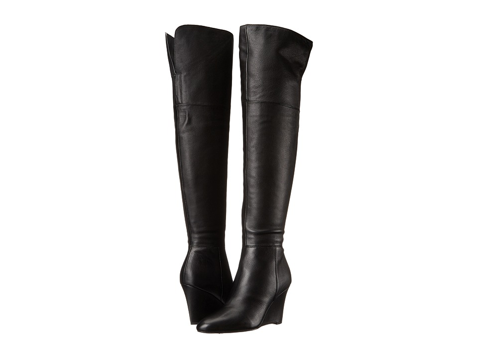 Via Spiga - Kennedy (Black Olympia Calf Leather) Women's Pull-on Boots