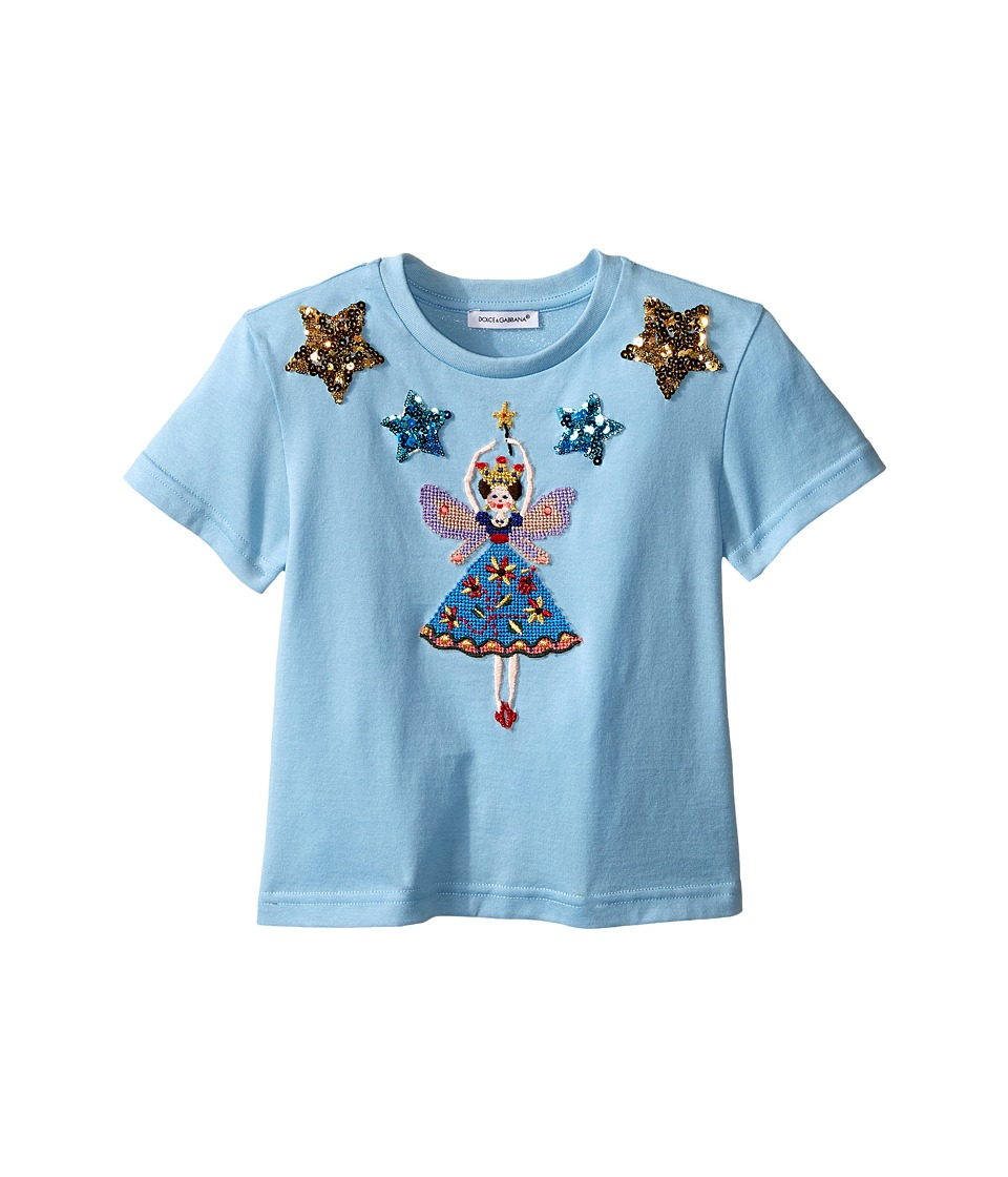 Dolce & Gabbana Kids - City Short Sleeve T-Shirt (Toddler/Little Kids) (Light Blue Print) Girl's T Shirt