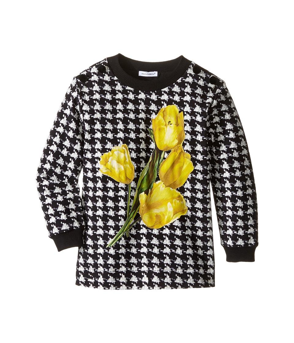 Dolce & Gabbana Kids - City Houndstooth Sweater (Toddler/Little Kids) (Black/White Print) Girl's Sweater