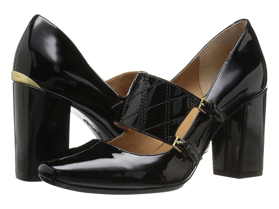 Calvin Klein - Casilla (Black Patent) Women's Shoes